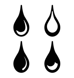 drops water icons set design set vector image