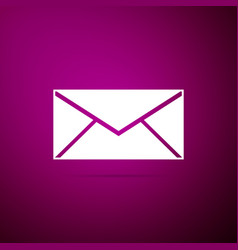 envelope icon isolated on purple background vector image