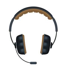 flat headphones icon vector image
