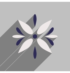 Flat icon with long shadow arabic flower vector