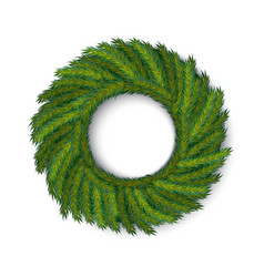green wreath global colors vector image