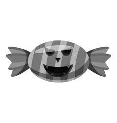 Halloween candy icon gray monochrome style vector
