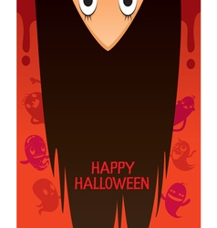 Halloween Ghost With Upside Down Head vector image