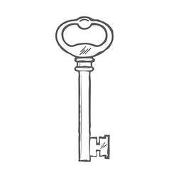 Hand Drawn Key isolated on white background vector image