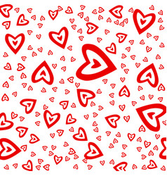 heart red ornament vector image