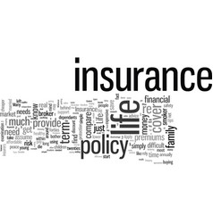 How to control your life insurance premiums vector