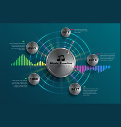 Infographic music timeline 02 vector