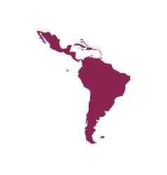 Latin-america-map vector