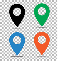 location pin icon on transparent pin on the map vector image