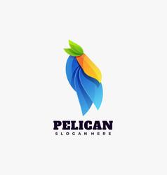 logo pelican gradient colorful style vector image