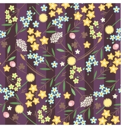 meadow flowers seamless pattern vector image