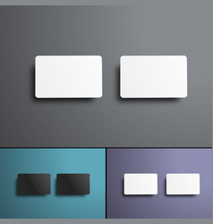 Mockup of two gift or bank cards top view vector