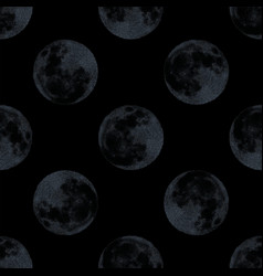 modern decorative seamless pattern with full moon vector image