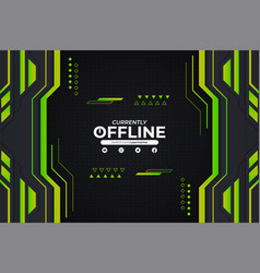 modern gaming twitch and social media banner vector image