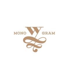monogram w vector image