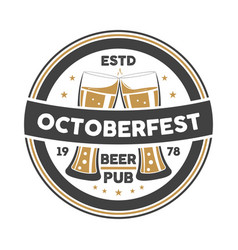 Octoberfest event vintage isolated badge vector