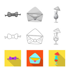Party and birthday icon vector