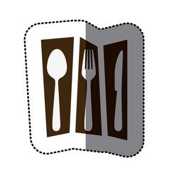 print cutlery tools icon vector image
