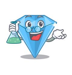 Professor sapphire gems in cartoon shape vector
