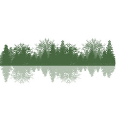 Reflection wood and tree vector