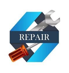 repair of design vector image