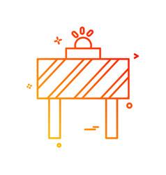 road blocker design vector image