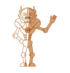 Robot toy greetings vector