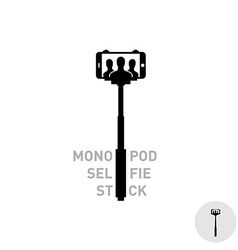 Selfie monopod stick symbol vector image