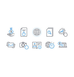 set education icons such as refresh mail vector image