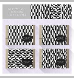 Set geometric seamless pattern 10 vector