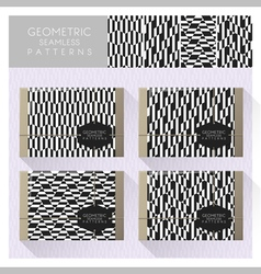 Set of geometric seamless pattern 10 vector