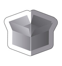 silver box opened icon vector image