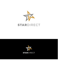 Simple clean star direction logo sign symbol icon vector