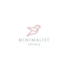 simple minimalist flying bird hummingbird canary vector image
