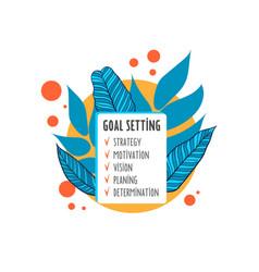 smart goal setting concept goal conceptall goals vector image