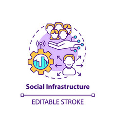 Social infrastructure concept icon vector