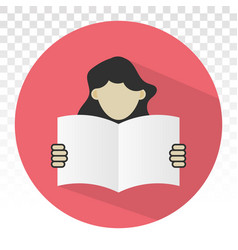 Students reading book or learn flat icon vector