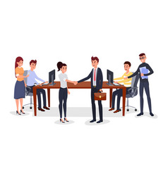 successful business meeting vector image
