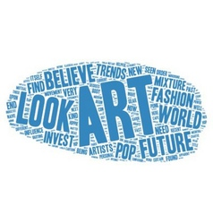 The Future Of Art Investment Ideas text background vector