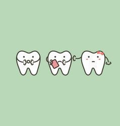 Tooth have a toothache because dental caries vector