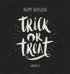 Trick or treat - hand drawn calligraphy vector
