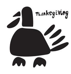 Turkey icon symbol thanksgiving theme and phrase vector
