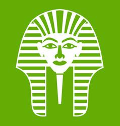 Tutankhamen mask icon green vector