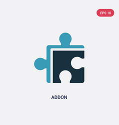Two color addon icon from programming concept vector