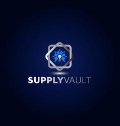 Vault logo designs security idea inspirat vector