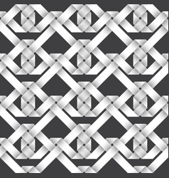 volumetric seamless pattern of intertwined ribbons vector image