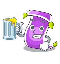 With juice cartoon fairytale story and magic vector