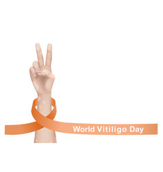 World vitiligo day for vector
