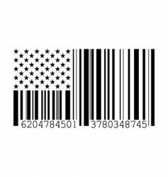 barcode flag vector image vector image