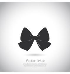 Black bow logo or icon vector image vector image